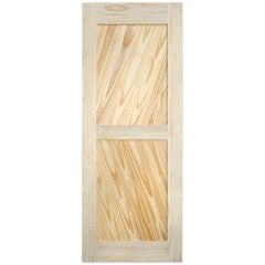 "Barn Door - Diagonal Plank - Pine - 24"" x 84"""