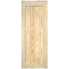 "Barn Door - Vertical Plank - Pine - 24"" x 84"""