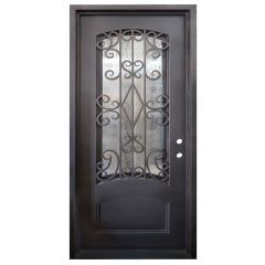 Cortez Wrought Iron Entry Door Left Swing 3068