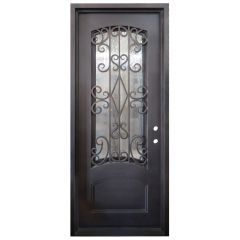 Cortez Wrought Iron Entry Door Left Swing 3080