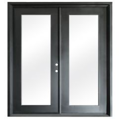 Terazza Black Wrought Iron Retrofit Patio Doors - Left Swing 6068