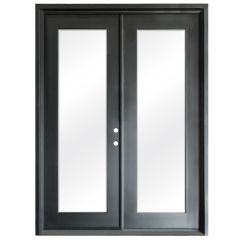 Terazza Black Wrought Iron Retrofit Patio Doors - Left Swing 6080