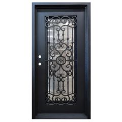 Marbella Wrought Iron Entry Door Right Swing 3068