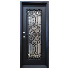 Marbella Wrought Iron Entry Door Right Swing 3080