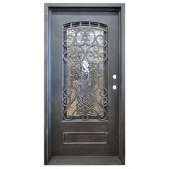 Montilla Wrought Iron Entry Door Left Swing 3068