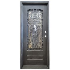 Montilla Wrought Iron Entry Door Left Swing 3080