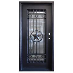 Texas Star Wrought Iron Entry Door Left Swing 3068