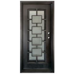 Zamora Wrought Iron Entry Door Left Swing 3068
