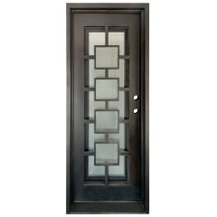 Zamora Wrought Iron Entry Door Left Swing 3080