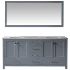 "Carina 72"" Gray Double Vanity"