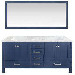 "Carina 72"" Navy Double Vanity"