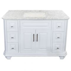 "Konnor 48"" White Vanity"