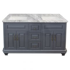 "Konnor 60"" Gray Double Vanity"