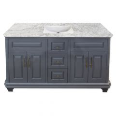 "Konnor 60"" Gray Vanity"