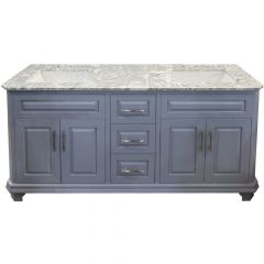 "Konnor 72"" Gray Double Vanity"