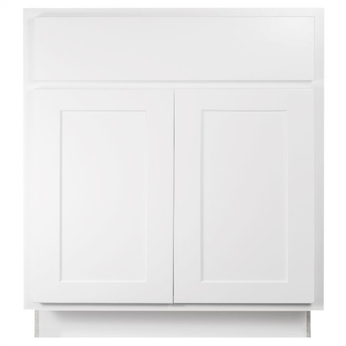 Base 30 Georgetown White Shaker Kitchen Cabinet Seconds And Surplus