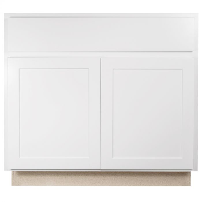 Base 36 Georgetown White Shaker Kitchen Cabinet Seconds And Surplus