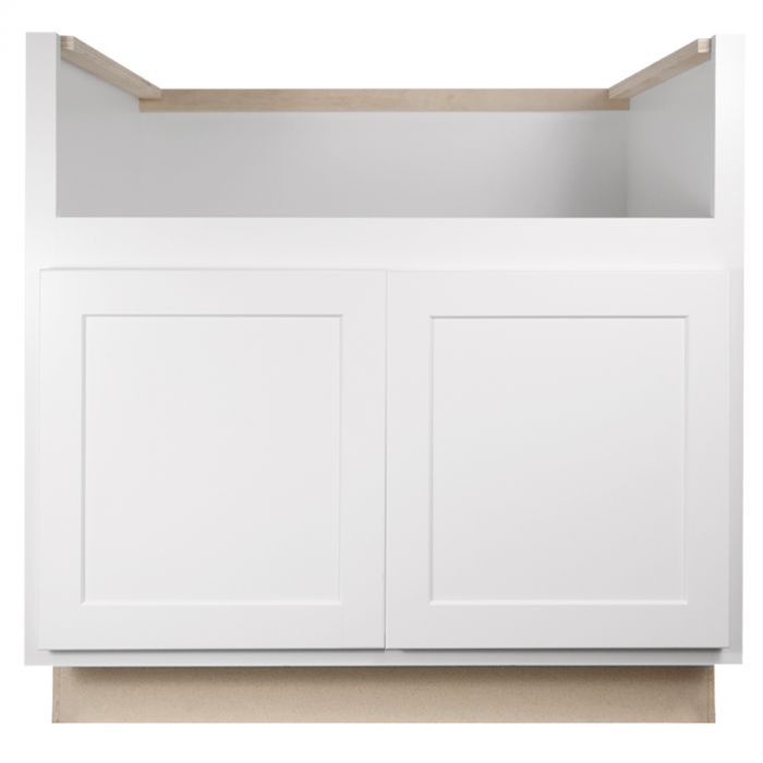 Farm Sink Base 33 Georgetown White Shaker Kitchen Cabinet Seconds And Surplus