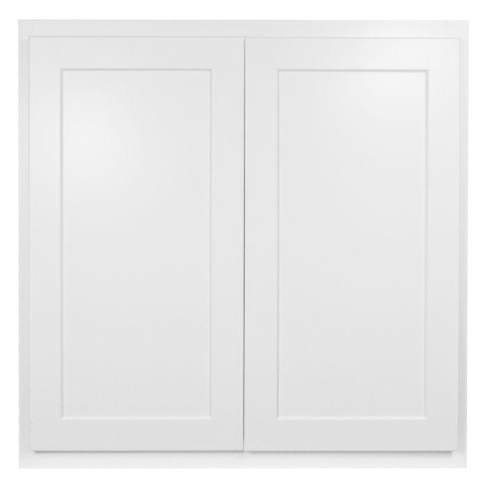 "Wall 30"" x 30"" Georgetown White Shaker Kitchen Cabinet ..."