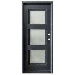 Aries Wrought Iron Entry Door Left Swing 3080