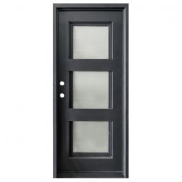 Aries Wrought Iron Entry Door Right Swing 3080