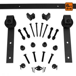 Barn Door Hardware 1000 Series (6 ft) - Black
