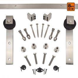 Barn Door Hardware 1000 Series (8 ft) - Satin Nickel