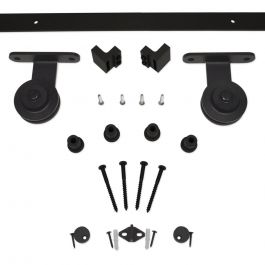 Barn Door Hardware 3000 Series Kit (8 ft) - Black