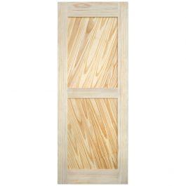 """Barn Door - Diagonal Plank - Pine - 36"""" x 84"""""""
