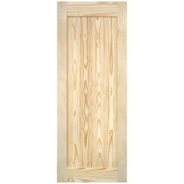 "Barn Door - Vertical Plank - Pine - 32"" x 84"""