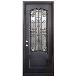Cortez Wrought Iron Entry Door Right Swing 3080