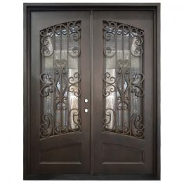 Cortez Double Wrought Iron Entry Door Left Swing 6080