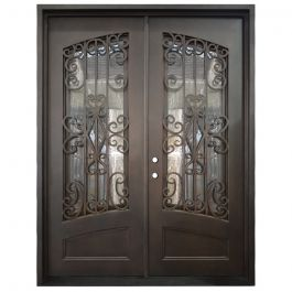 Cortez Double Wrought Iron Entry Door Right Swing 6080