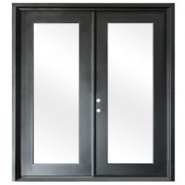 Terazza Black Wrought Iron Retrofit Patio Doors - Right Swing 6068