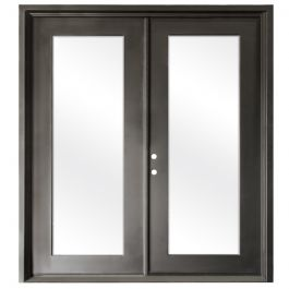 Terazza Bronze Wrought Iron Retrofit Patio Doors - Right Swing 6068