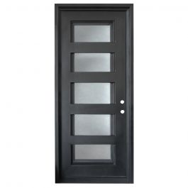 Metro Wrought Iron Entry Door Left Swing 3080