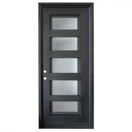 Metro Wrought Iron Entry Door Right Swing 3080
