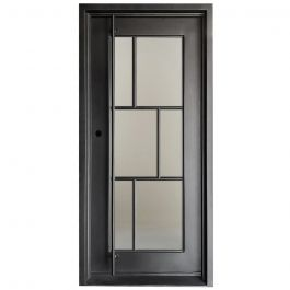 Modelo Wrought Iron Entry Door Right Swing 3068