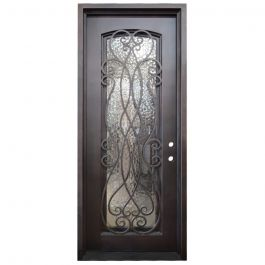 Palencia Wrought Iron Entry Door Left Swing 3080