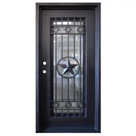 Texas Star Wrought Iron Entry Door Right Swing 3068