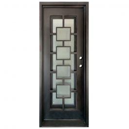 Zamora Wrought Iron Entry Door Left Swing 3080