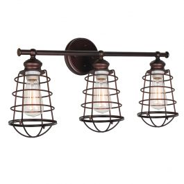Ajax 3-Light Vanity Light - Coffee Bronze