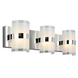 Haswell 3-Light LED Wall Light - Polished Chrome