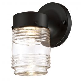Jelly Jar Indoor/Outdoor LED Wall Light - Black