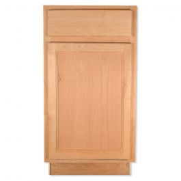 "Base 18"" Unfinished Alder Kitchen Cabinet"