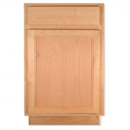 "Base 21"" Unfinished Alder Kitchen Cabinet"
