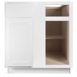 Base 39 Quot Georgetown White Blind Corner Shaker Kitchen Cabinet Seconds And Surplus