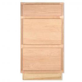 3 Drawer Base 18 Quot Unfinished Alder Kitchen Cabinet Seconds And Surplus