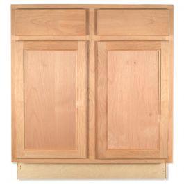 """Sink Base 30"""" Unfinished Alder Kitchen Cabinet"""