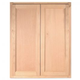 "Wall 24"" x 30"" Unfinished Alder Kitchen Cabinet"